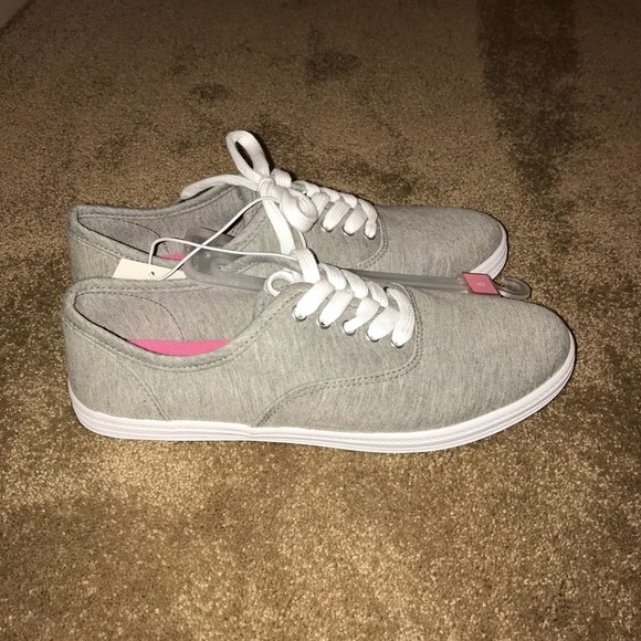 Mossimo Supply Co Gray Canvas Shoes Nwt